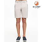 【hilltop山頂鳥】男款吸濕快乾抗菌彈性抗UV短褲S09M72城堡灰