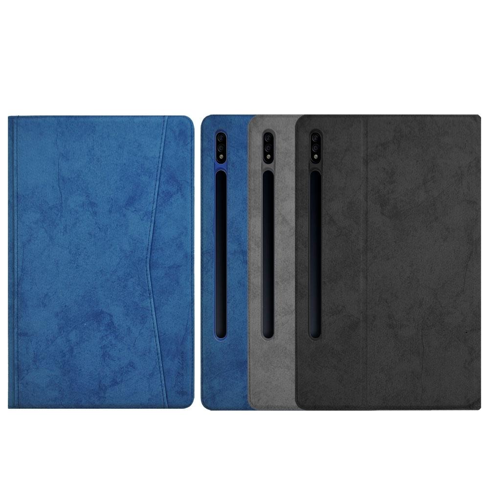 Metal-Slim Samsung Galaxy Tab S7 SM-T870 / SM-T875 前端收納夾磁吸保護皮套(袋裝)