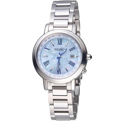 SEIKO 精工 LUKIA 幸福時刻太陽能電波腕錶(SSQV027J)
