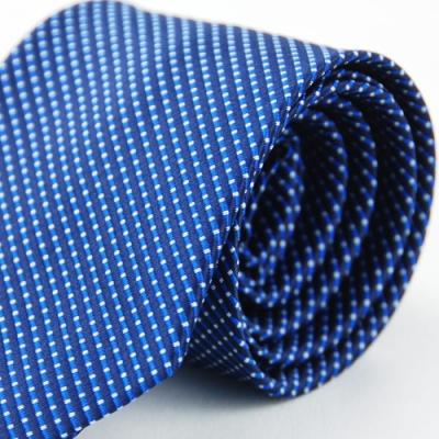 Alpaca 藍色斜紋白點領帶