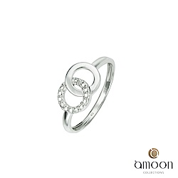amoon 浪漫艾菲爾系列 永結同心 K金鑽石戒指