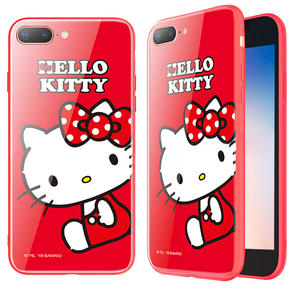 iStyle iPhone 7/8 plus 5.5 Hello Kitty 坐姿手機殼