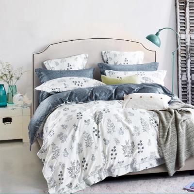 Saint Rose頂級精緻100%天絲床罩八件組(包覆高度35CM)-簡愛 加大