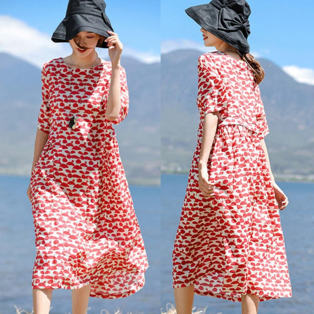 洋裝-100支紅點苧麻/設計所在SQ404