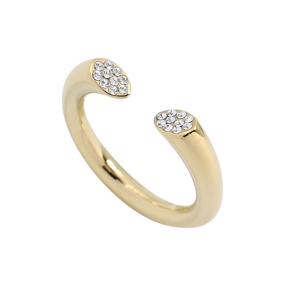 Calvin Klein CK BRILLIANT簡約開口式水晶金色戒指