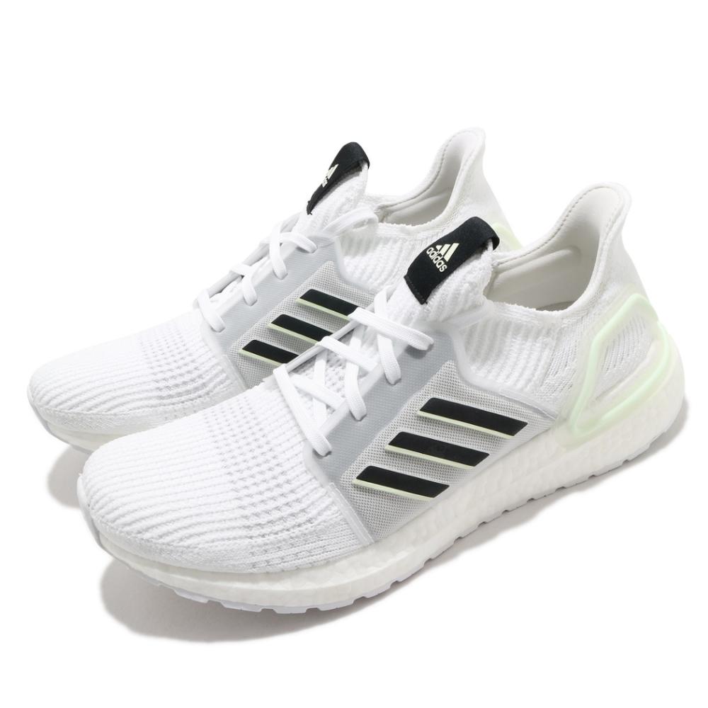 adidas 慢跑鞋 Ultraboost 19 襪套式 男鞋 海外限定 愛迪達 運動休閒 穿搭 緩震 白 黑 FV2554