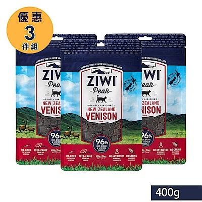 ZiwiPeak 巔峰 96%鮮肉貓糧 鹿肉 400G 3件組