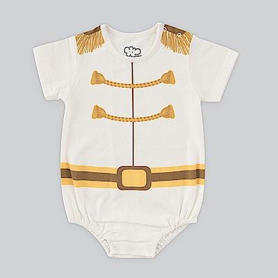 日安朵朵 男嬰連身衣 - MIT台灣製白馬王子(短袖)(不含皇冠)
