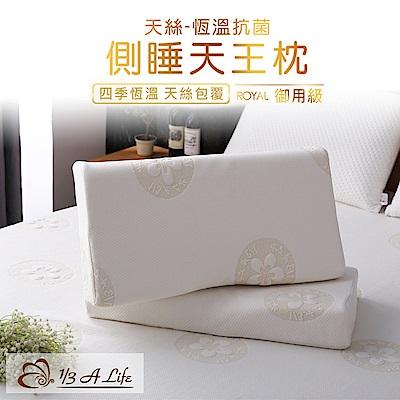 1/3 A LIFE 鑫妮 天絲-恆溫科技側睡天王記憶枕-1入