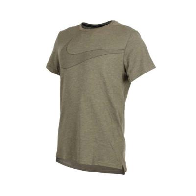 NIKE 男 短袖排汗T恤 軍綠黑