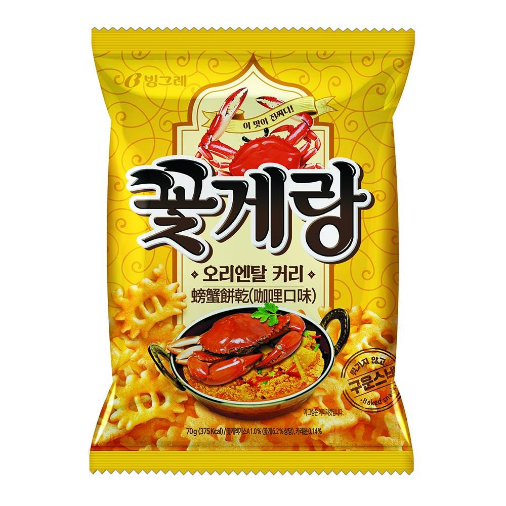 韓味不二 Binggrae螃蟹餅乾-咖哩(70g)