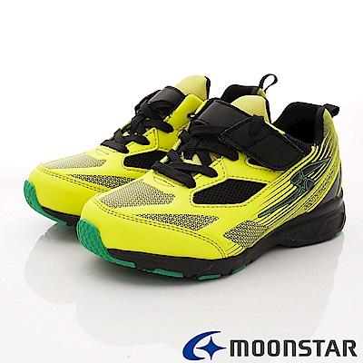 日本月星頂級競速童鞋 靜態防水系列 EI927黃(中大童段)