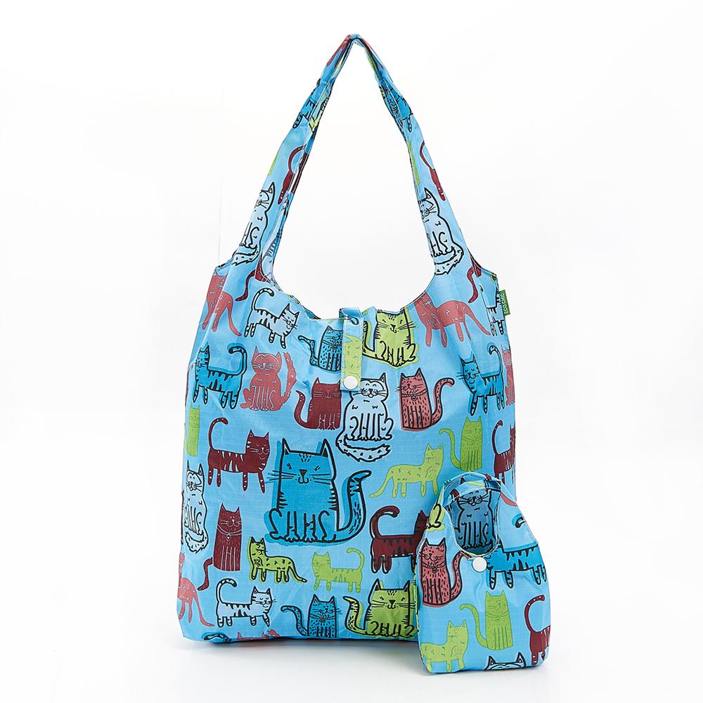 英國ECO CHIC購物袋-塗鴉貓