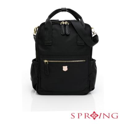 SPRING-經典質感系列3way尼龍後背包-經典黑