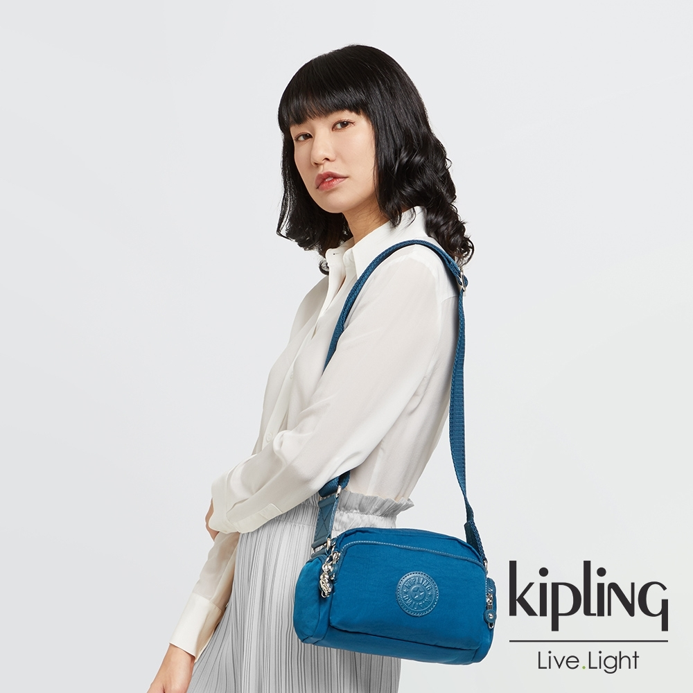 Kipling 典雅紺青色隨身斜背包-JENERA S