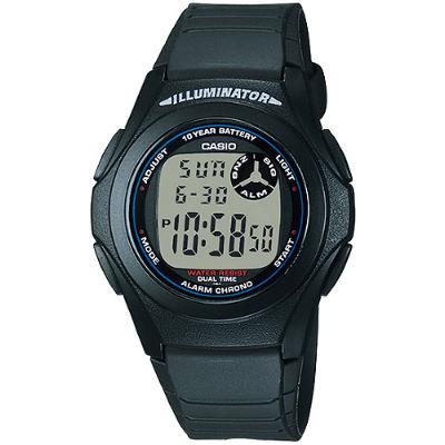 CASIO 簡約魅力休閒電子錶-黑框(F-200W-1A)/26mm