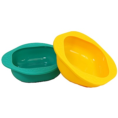 【MARCUS&MARCUS】動物樂園矽膠兒童餐碗2入組-(黃/綠)