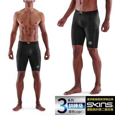 澳洲 SKINS 男款 3系列訓練級壓縮短褲.緊身彈力褲.運動壓力褲_黑