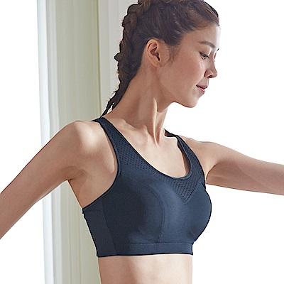 蕾黛絲-LadieSport好運動-Level4-吸震背心CE罩杯內衣 動力黑