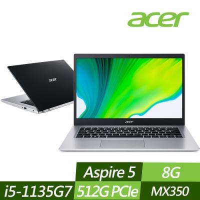 ACER 宏碁 A514-54G-513S 14吋效能筆電 i5-1135G7/MX350 2G獨顯/8G/512G PCIe SSD/Win10
