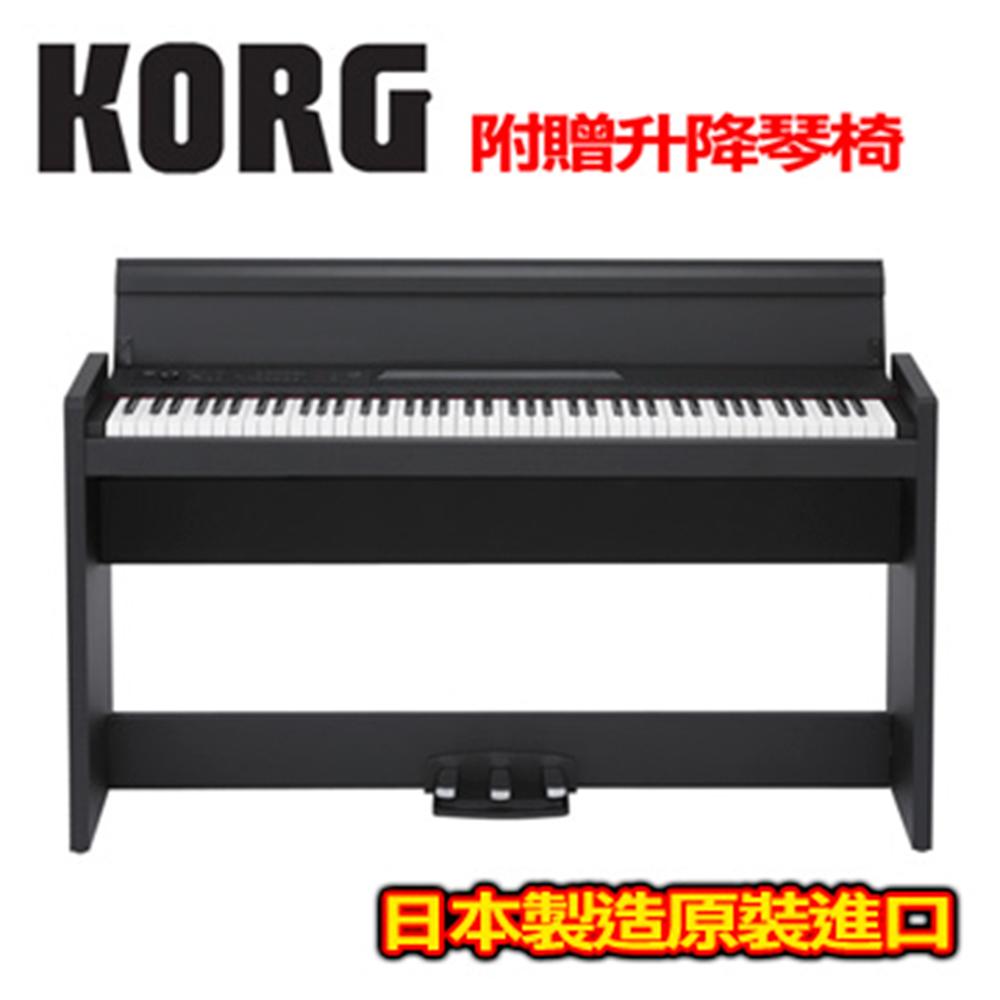 [無卡分期-12期] KORG LP-380 直立式數位電鋼琴 古典墨黑色款