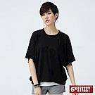 5th STREET 素面寬版剪裁 短袖T恤-女-黑色