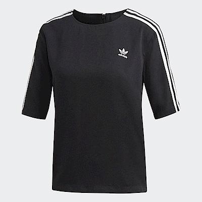 adidas T恤 3 Stripes Tee 運動休閒 女款