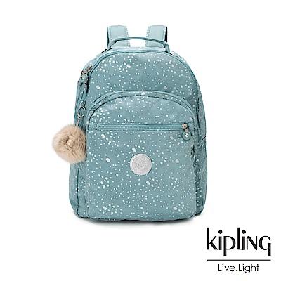 Kipling潑墨感銀空藍後背包-CLAS SEOUL