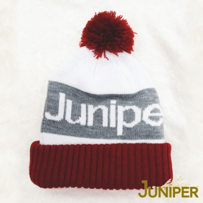 JUNIPER男女提花禦寒防風雙層針織帽時尚滑雪毛線帽