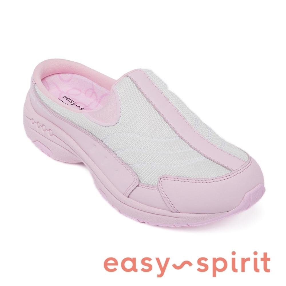 Easy Spirit-seTRAVELTIME475 舒適款 輕量厚底包覆拖鞋-粉色