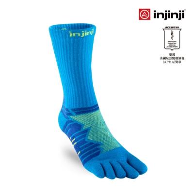 【INJINJI】Ultra Run終極系列五趾中筒襪 [檸藍]