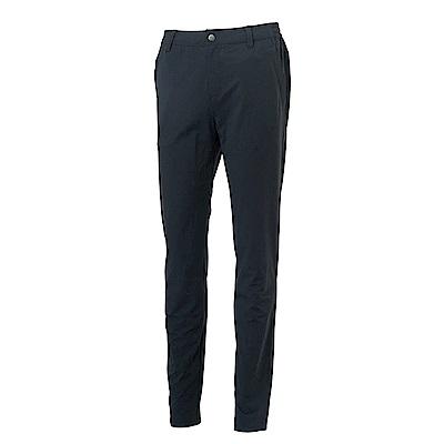 Wildland荒野女彈性貼袋四季款休閒長褲黑色