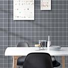 半島良品 防水PVC自黏牆紙45x200cm-灰色方格