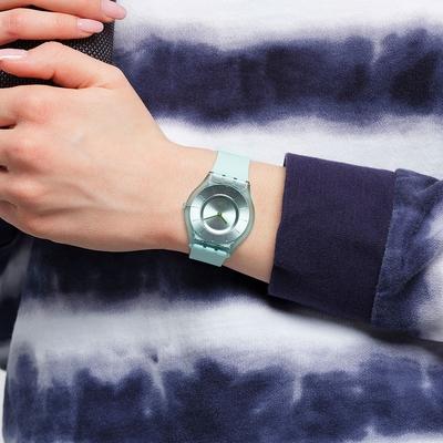SWATCH  SKIN 超薄系列手錶 SWEET MINT 薄荷綠-34mm