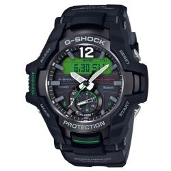 G-SHOCK 飛行員專屬太陽能藍芽錶-黑x綠(GR-