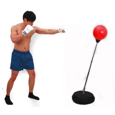 可調直立式拳擊反應練習彈力球.可調高彈力發洩不倒翁訓練踢靶拳擊速度球拳擊球柱球座