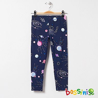 bossini女童-印花針織貼身褲01海軍藍