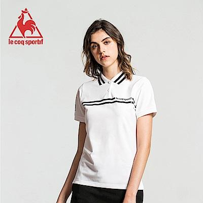 le coq sportif 法國公雞牌運動潮流短袖POLO衫 女-白