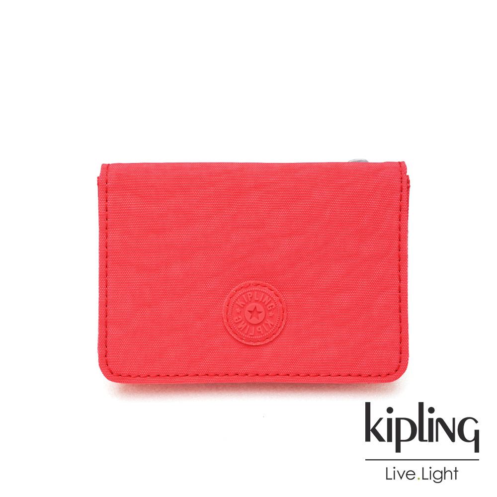 Kipling 亮橘色素面實用短夾-ALETHEA