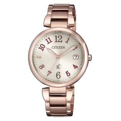 CITIZEN xC光動能閃耀時刻腕錶-玫瑰金(EO1194-53A)33mm