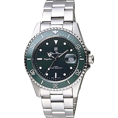 Olympia Star 奧林比亞 尊爵日期石英手錶-綠/38mm
