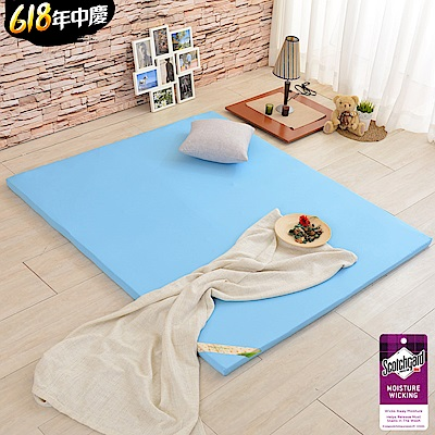 (特約活動)雙人5尺-LooCa 吸濕排汗HT5cm乳膠舒眠床墊