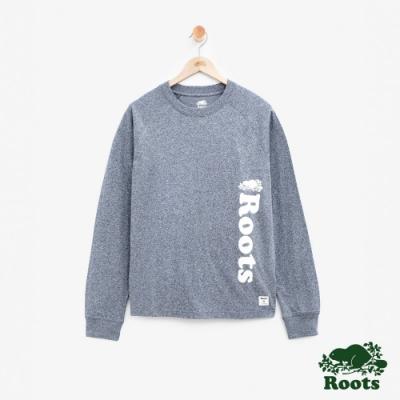 男裝Roots 原創長袖T恤-藍