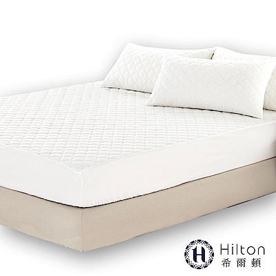 Hilton 希爾頓 五星級御用 雙面防潑水天鵝絨單人舖棉床包式保潔墊