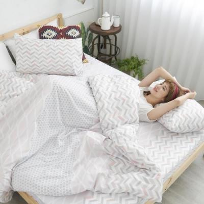 BUHO 舒涼TENCEL天絲單人床包+雙人被套三件組(晴空羽澄)