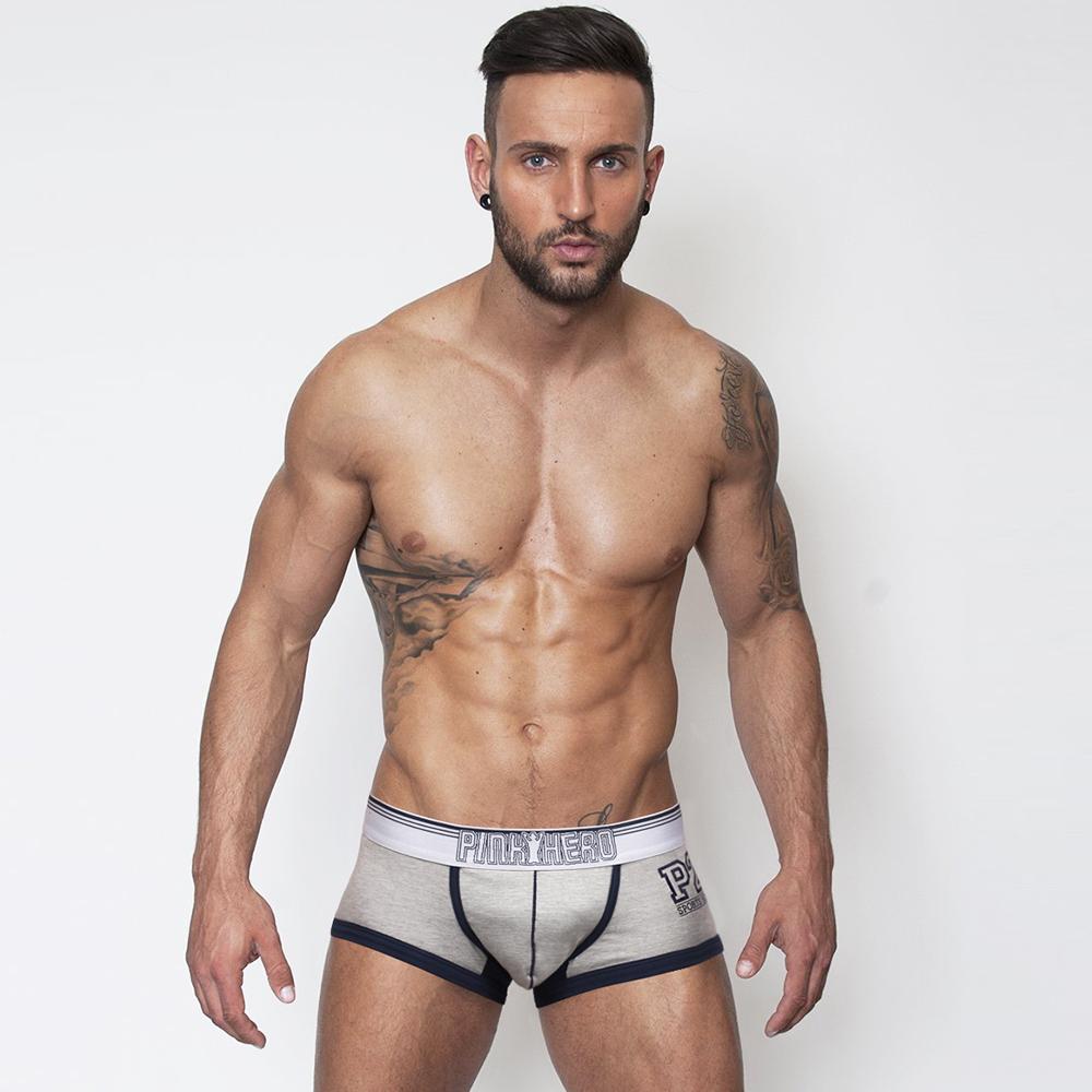 男內褲 足球運動棉質彈力拼接男內褲-灰色 LOTUS