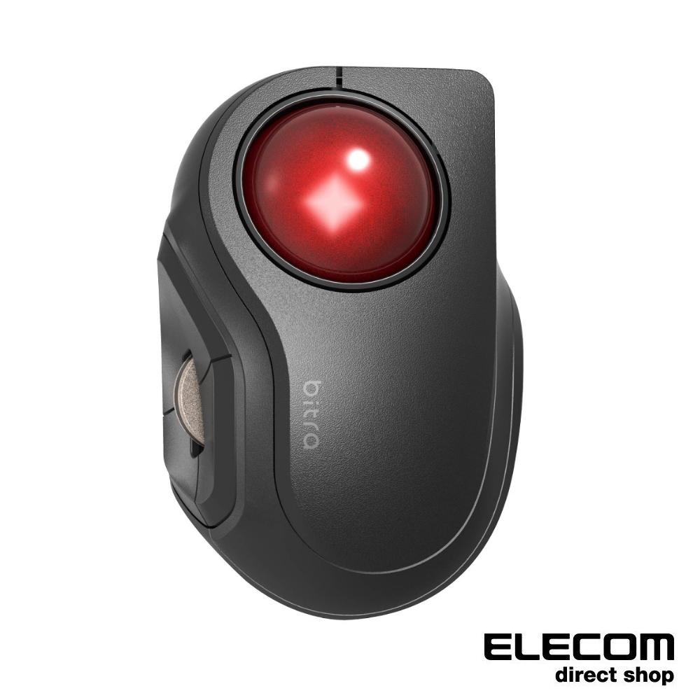 ELECOM bitra可攜式無線靜音軌跡球滑鼠(食指)-無線2.4GHz-藍牙