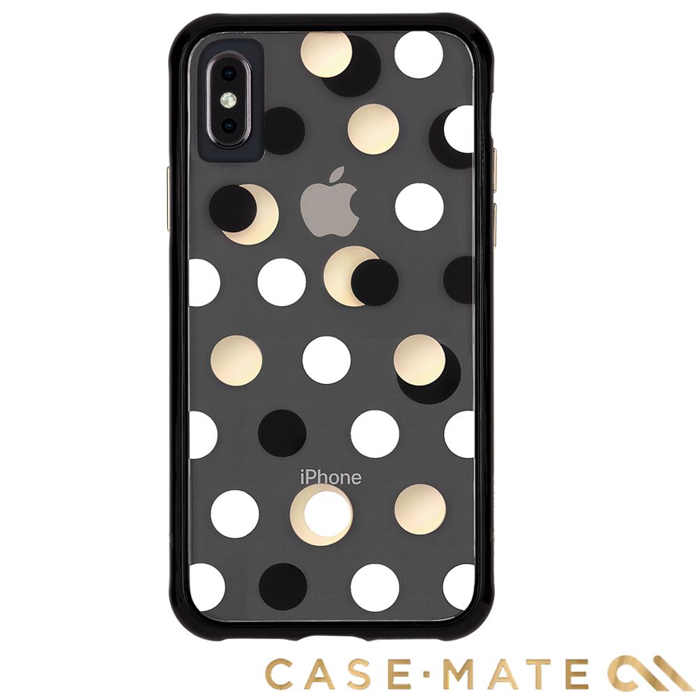 美國 Case-Mate iPhone XS / X Wallpapers防摔殼-黑金圓點