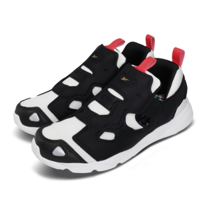Reebok 休閒鞋 Furylite 3 運動 童鞋 襪套 輕量 透氣舒適 避震 球鞋 中童 黑 白 FU9303