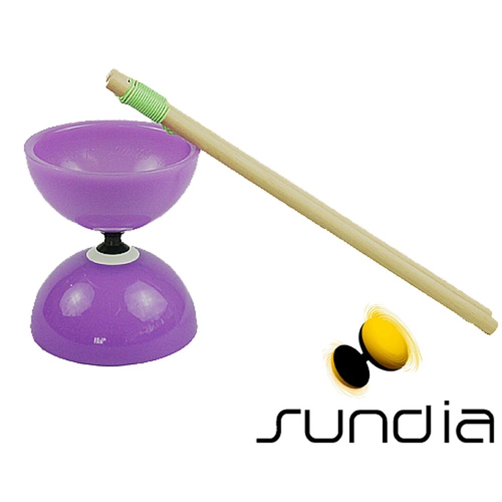 三鈴SUNDIA-台灣製造FLY長軸培鈴扯鈴(附木棍、扯鈴專用繩)紫色